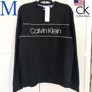 カルバンクライン(Calvin Klein)のレア 新品 Calvin Klein USA メンズロゴスウェット 黒 M(スウェット)