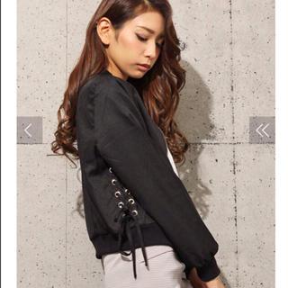 リゼクシー(RESEXXY)のリゼクシー♡サイドレースアップMA-1♡ブラック(ブルゾン)