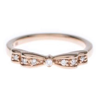ヨンドシー(4℃)の最終価格♪半額♪【4℃】K10☆1号☆リボンリング☆ダイヤモンド&ルビー(リング(指輪))