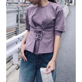 アメリヴィンテージ(Ameri VINTAGE)のAMERI VINTAGE WAIST LACE-UP T-SHIRTS アメリ(Tシャツ(半袖/袖なし))