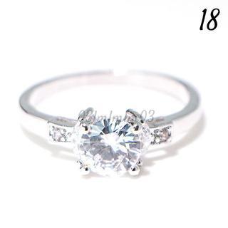 C14 リング 18号 CZ ダイヤモンド シンプル 大きいサイズ(リング(指輪))