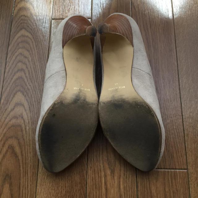 OPAQUE(オペーク)のベージュ スエードパンプス Lサイズ レディースの靴/シューズ(ハイヒール/パンプス)の商品写真