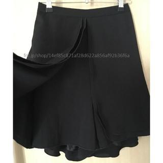 アンティカ(antiqua)の【美品】antiqua 黒 スカート(ひざ丈スカート)