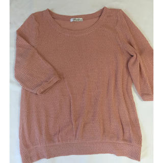 大きいサイズ!綿混ニット七分袖3L(ニット/セーター)