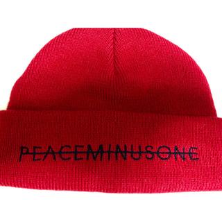 ピースマイナスワン(PEACEMINUSONE)のpeaceminusoneニット帽 正規品(ニット帽/ビーニー)