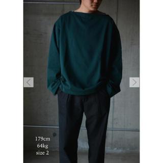 コモリ(COMOLI)のOUTIL TRICOT AAST - COTTON TERRY バスクシャツ(Tシャツ/カットソー(七分/長袖))