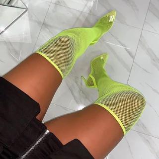 イエローブーツ(Yellow boots)のメッシュニーハイブーツ(ブーツ)