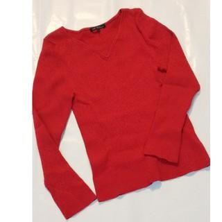 ニジュウサンク(23区)の23区  サイズ32  赤 リブ ニット(Tシャツ(長袖/七分))