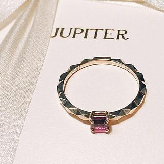 アガット(agete)の本日限り!JUPITER ジュピター k10YG アメジスト リング ♯7(リング(指輪))