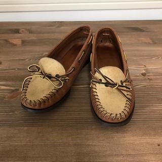 ラルフローレン(Ralph Lauren)の【Ralph Lauren】レザーデッキシューズ(ローファー/革靴)