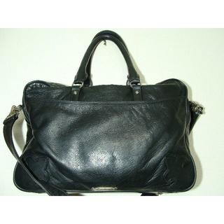 クロムハーツ(Chrome Hearts)のCHクロムハーツフレアーレザー皮革書類ブリーフビジネスバッグショルダー鞄(ビジネスバッグ)