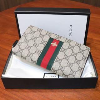 グッチ(Gucci)のGUCCI グッチ GGスプリーム ハチ ラウンドファスナー 長財布 未使用(財布)