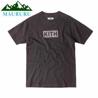 正規品 KITH キス クラシックボックスロゴTシャツ グレー