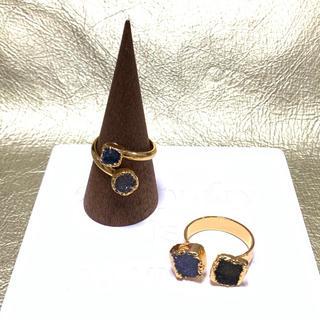 天然石 ドゥルージーリング 2本セット 17号 18号(リング(指輪))