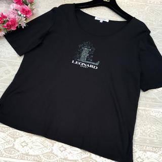 レオナール(LEONARD)のレオナール スポーツ♡Tシャツ ブラック♡42(Tシャツ(半袖/袖なし))