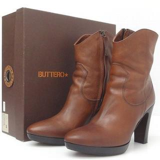 ブッテロ(BUTTERO)のBUTTERO ブッテロ サイドジップブーツ 約25cm(ブーツ)