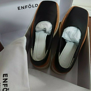 エンフォルド(ENFOLD)のエンフォルド  レーザー厚底シューズ 36(ローファー/革靴)