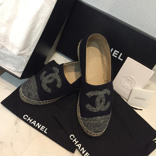 CHANEL - シャネル エスパドリーユ スリッポン 靴 スニーカー 37