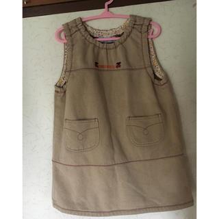 ティンカーベル(TINKERBELL)の❣️TINKERBELL ジャンパースカート ワンピース100 ベージュ日本製(ワンピース)