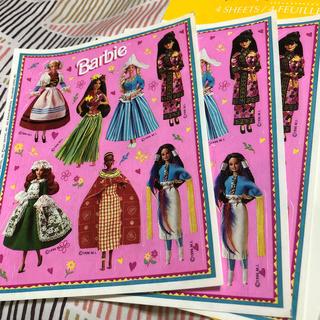 バービー(Barbie)のステッカー Barbie 同柄3枚セット(シール)