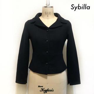 シビラ(Sybilla)のSybilla シビラ★ウール素材 ジャケット ブラック 黒(テーラードジャケット)