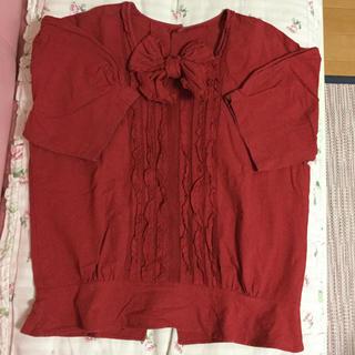 ピンクハウス(PINK HOUSE)のピンクハウス 赤 ブラウス(シャツ/ブラウス(半袖/袖なし))