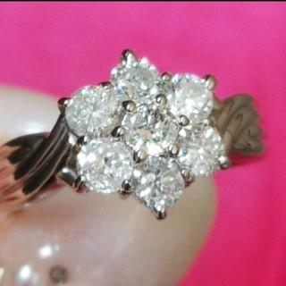 ◎お値下げ ダイヤモンド 1カラット Pt900 プラチナ リング 指輪 美品(リング(指輪))