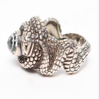 アッシュペーフランス(H.P.FRANCE)の男の逸品 スティーブンデュエックのスネークリング16号希少デザイン(リング(指輪))