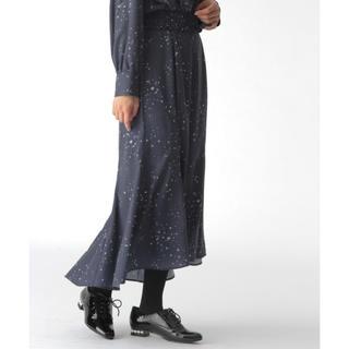 ミスティウーマン(mysty woman)のミスティウーマン 星柄ロングフレアースカート ¥6,480(ロングスカート)