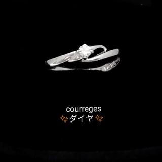 クレージュ(Courreges)の細身なのでこの価額で販売♥️ courreges ✨ダイヤ✨付きリング K18W(リング(指輪))