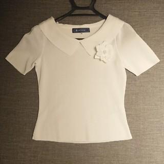 エムズグレイシー(M'S GRACY)のエムズグレイシー 綿トップス 新品未使用(カットソー(半袖/袖なし))
