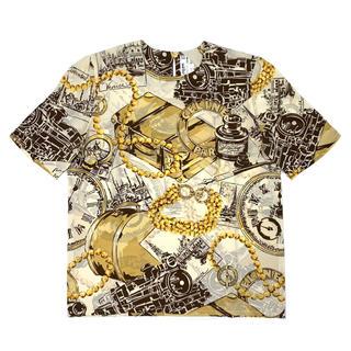 セリーヌ(celine)のCELINE☆ Tシャツ シルク アイボリー ブラウン ゴールド(シャツ/ブラウス(半袖/袖なし))