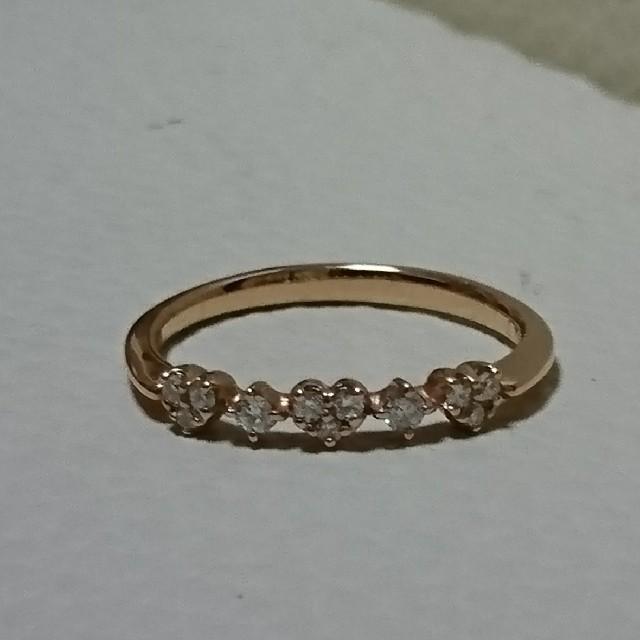 PonteVecchio(ポンテヴェキオ)のポンテヴェキオ K18PG ダイヤモンド リング 0.1ct レディースのアクセサリー(リング(指輪))の商品写真