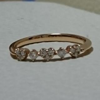 ポンテヴェキオ(PonteVecchio)のポンテヴェキオ K18PG ダイヤモンド リング 0.1ct(リング(指輪))
