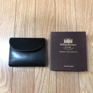 ホワイトハウスコックス(WHITEHOUSE COX)のWhite house Cox 財布 black  ジャンク(折り財布)