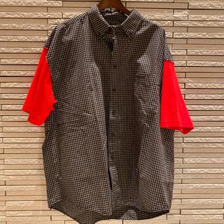 バレンシアガ(Balenciaga)のBALENCIAGA/バレンシアガ/19SS/袖切替チェック半袖シャツ(シャツ)