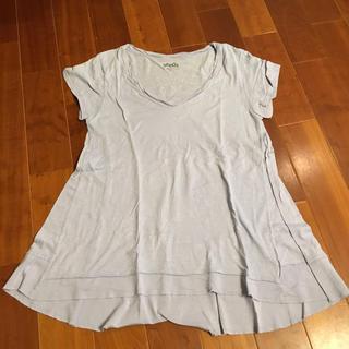 ローズバッド(ROSE BUD)のローズバッド seeds シード Tシャツ ブルー ツイスト(Tシャツ(半袖/袖なし))