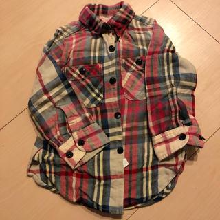 デニムダンガリー(DENIM DUNGAREE)のデニムダンガリー ネルシャツ 100(ブラウス)