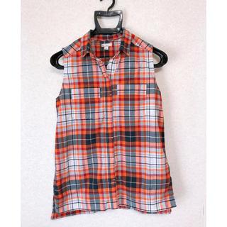 ギャップ(GAP)のGAP ノースリーブシャツ チェック(シャツ/ブラウス(半袖/袖なし))