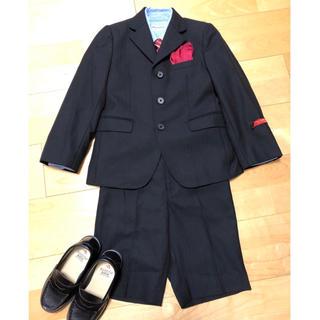 ミキハウス(mikihouse)の美品☆ ミキハウス フォーマル 5点 スーツ シャツ ネクタイ チーフ 120(ドレス/フォーマル)