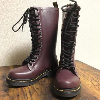 ドクターマーチン(Dr.Martens)の☘未使用品 可愛い☘ドクターマーチン レディース 14ホール レインブーツ(レインブーツ/長靴)