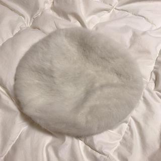 ウィゴー(WEGO)のベレー帽 ホワイト(ハンチング/ベレー帽)