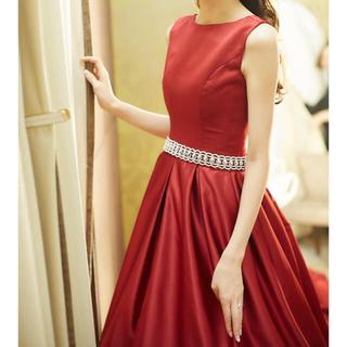 赤(ボルドー) カラードレス(ウェディングドレス)