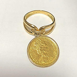 早い者勝ち❗️ k24 純金 キャットコイン k18 リング(リング(指輪))