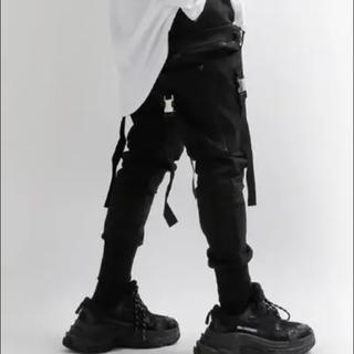 バレンシアガ(Balenciaga)のブラックテイラー風 ジョガーパンツ(ワークパンツ/カーゴパンツ)