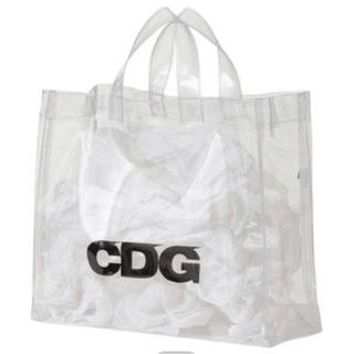 **CDG Comme Des Garcons PVC Paper Black Tote Bag DSM Virgil Abloh **