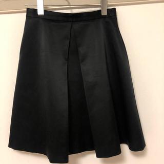 バーニーズニューヨーク(BARNEYS NEW YORK)のヨーコチャン 黒台形スカート(ひざ丈スカート)