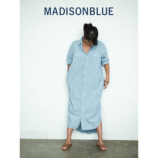 マディソンブルー(MADISONBLUE)の【MADISON BLUE(マディソンブルー)】コットンシャンブレーシャツドレス(ロングワンピース/マキシワンピース)