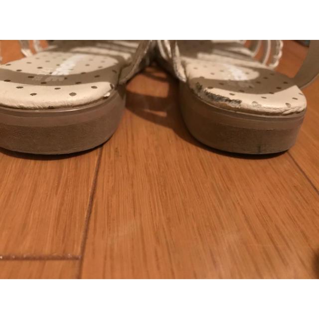 mikihouse(ミキハウス)の⭐️最終価格⭐️ミキハウス サンダル 白 17.0㎝ キッズ/ベビー/マタニティのキッズ靴/シューズ (15cm~)(サンダル)の商品写真