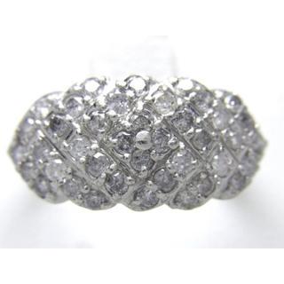お値引き不可 PT1000 合計1.00ct 天然 ダイヤ リング(リング(指輪))